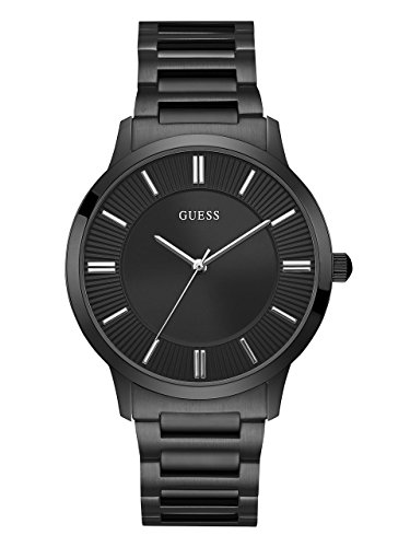 GUESS-Mens-Quartz-Stainless-Steel-Dress-Watch-ColorBlack-Model-U0990G5