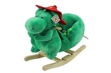 Sweety Toys 9053 GRISU Pl/üsch Schaukeltier Schaukelstuhl Drache Feuerwehrmaskottchen