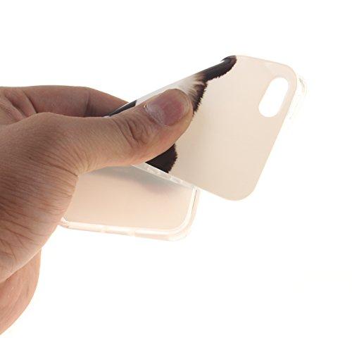Custodia iPhone 5 5S SE , LH Panda TPU Silicone Cristallo Morbido Case Cover Custodie per Apple iPhone 5 5S SE