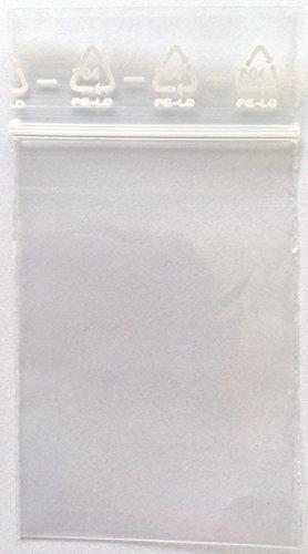 ZIP Beutel 40x60 mm, 50µ, 500 Stück, Druckverschluss Beutel, Zip Bag, Zip Tütchen, Zipper