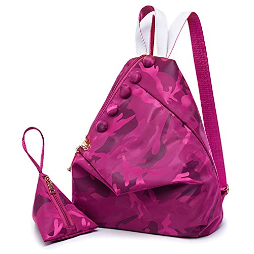 Backpack Women Bags 2 School PCS Set Rosered Purple 29x15x34cm qETTSOtn