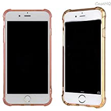 iPhone 7 Plus Case [2 Pack] CaseHQ Transparent Slim Thin Flexible TPU Extra Protection Rubber Skin Premium Soft Silicone Rubber Gel Slim-Fit Scratch Resistant(Rosegold+Golden iPhone 7 Plus Case)