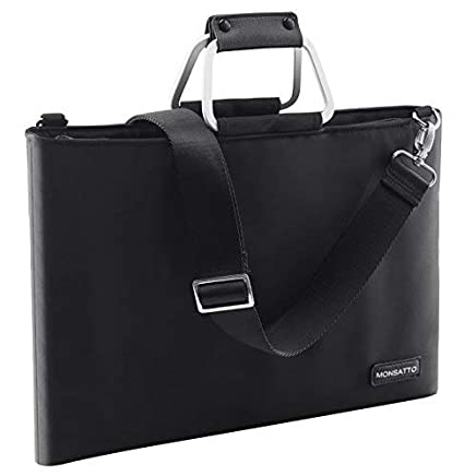 b8c49037a3e1 Monsatto Slim Laptop Bag 14 15-15.6 Inch with Handle & Removable Shoulder  Strap,