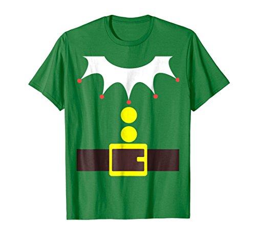 Mens Elf Costume TShirt Funny Christmas / Xmas Santa Helper Shirt Medium Kelly Green (Adult Christmas Tree)
