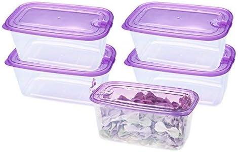 EASYLOCK - Juego de 3 recipientes de plástico para alimentos con ...