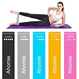 Ahomie Resistance Loop Bands, Workout Booty Exercise Bands for Legs and Butt, Pilates Flexbands for Body Stretching Yoga Fitness Training, Band Carry Bag, 12