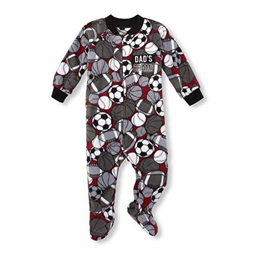 (The Children's Place Boys Baby Printed Blanket Sleeper, Burgundy 2T )