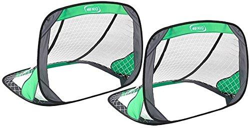 4Uniq 18713-002 Fußballtor Pop up 2er Set Einzeltor grün Tor