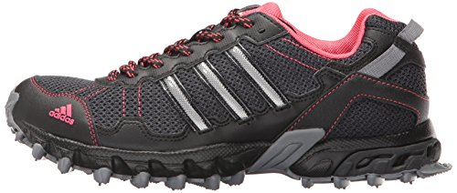51eXqK0lbmL adidas Performance Women's Rockadia Trail W Running Shoe, Grey/Black/Pink, 7 M US