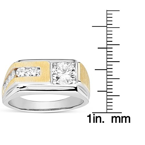 Forever Classic Men�s Round 6.5mm Moissanite Wedding Band-size 12, 1.60cttw DEW By Charles & Colvard by Charles & Colvard (Image #3)