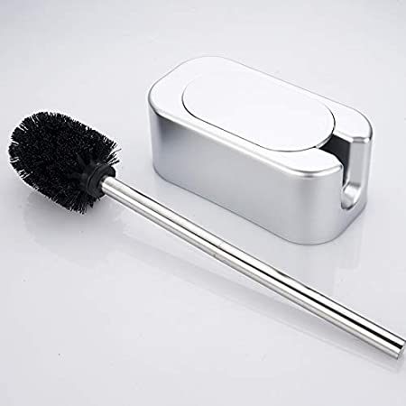 Wall-Mounted Brush for Toilet Black dirk Toilet Brush and Holder