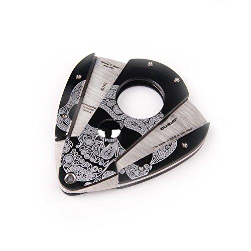 JIFENG - Cigar Cutter - Black Lacquer Skull Pattern