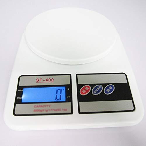 PETUNIA Sf-400 Bilancia da Cucina per Uso Domestico Bilancia da Forno Mini Bilance Medicina Bilancia da Cucina Bilancia Elettronica da Cucina Bianco