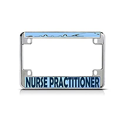 NURSE PRACTITIONER METAL CAREER PROFESSION License Plate Frame Holder