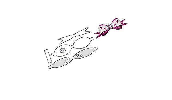 Qiman Arco Amor Corbata Metal para Repujado Plantilla DIY ...