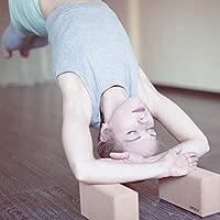 Parpox Bloque Yoga de Corcho Premium | Yoga Block en Corcho 100% Natural y Sostenible | Set con Bolsa de Almacenamiento y Transporte Estirar, Pilates ...