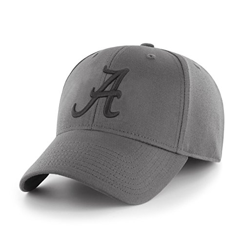 OTS NCAA Alabama Crimson Tide Comer Center Stretch Fit Hat, Charcoal, Large/X-Large