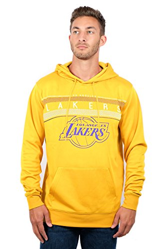 NBA Los Angeles Lakers Men's Fleece Hoodie Pullover Sweatshirt Poly Midtown, Medium, Yellow