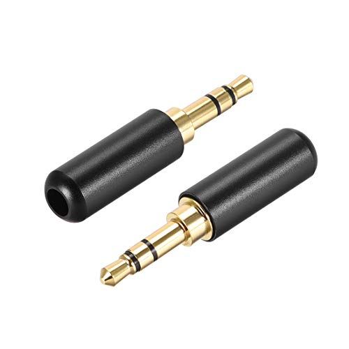 uxcell 3.5mm Stereo Male Jack Solder Connector Audio Video Cable Power Adapter 2pcs