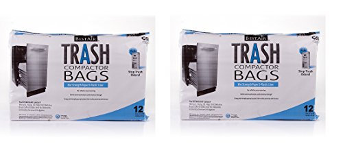 BestAir Trash Compactor Bags(16'' D. x 9'' W. x 17'' H,pack of 12) (2)