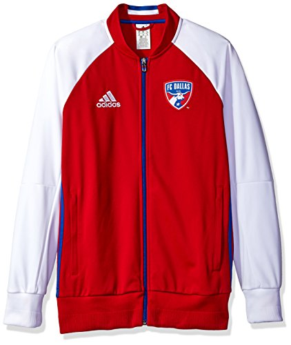 MLS FC Dallas Adult Men Anthem Sideline Full Zip Jacket,Medium,Red