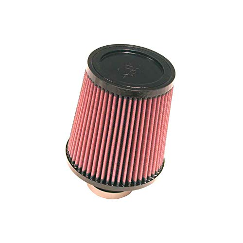 K&N RU-4870 Universal Clamp-On Air Filter: Round Tapered; 2.75 in (70 mm) Flange ID; 6.5 in (165 mm) Height; 6 in (152 mm) Base; 5 in (127 mm) Top ()