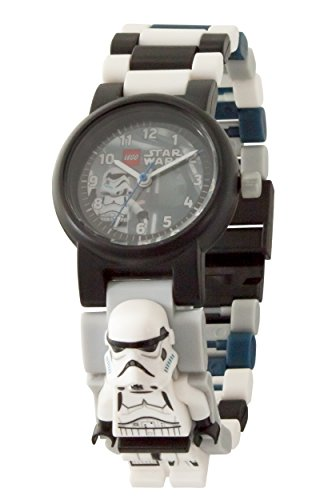 - Lego Star Wars 8021025 Stormtrooper Kids Minifigure Link Buildable Watch | White/Blue| Plastic | 25mm case Diameter| Analogue Quartz | boy Girl | Official