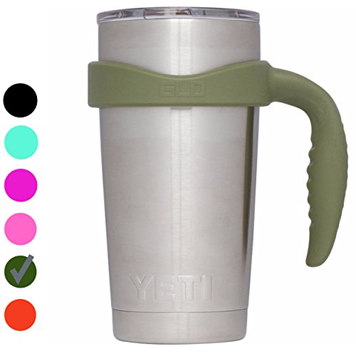 Grab Life Outdoors (GLO) - Handle For YETI Rambler 20 Oz Tumbler Cup - Fits YETI, Ozark Trail & more - Handle Only (Hunter Green)