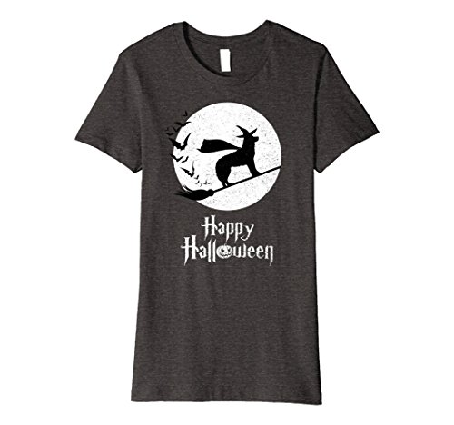 Costumes Dog Husky Funny (Womens Witch Funny Halloween Costume T-Shirt HUSKY Lovers XL Dark)
