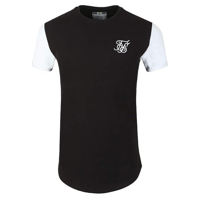 Sik Silk Camiseta Negra Mangas Blancas 13773 Gym Hombre (XS)