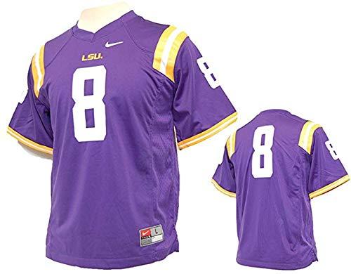 Nike LSU Tigers NCAA Youth Replica Football Jersey #8 (Purple, M)