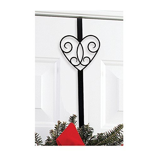 Village Wrought Iron WRE-B-110 Heart Wreath Hanger by Village Wrought Iron