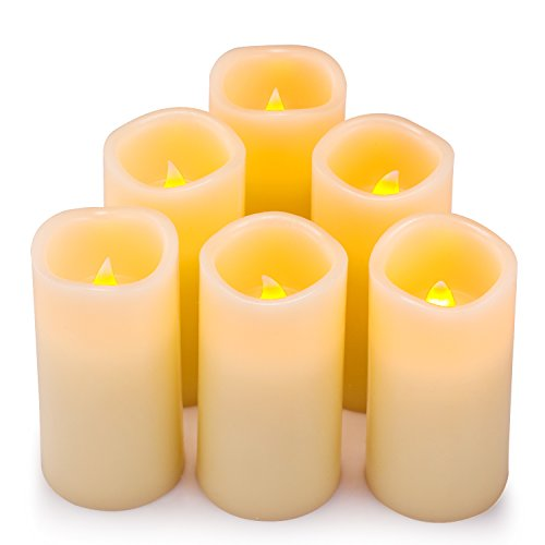 Flameless Candles, Battery Operated Votive Wax and Amber Yel