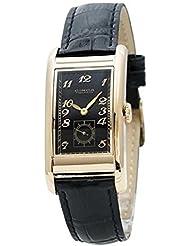 Circa Timepiece Mens Rectangular Watch Black and Goldtone CT125TB