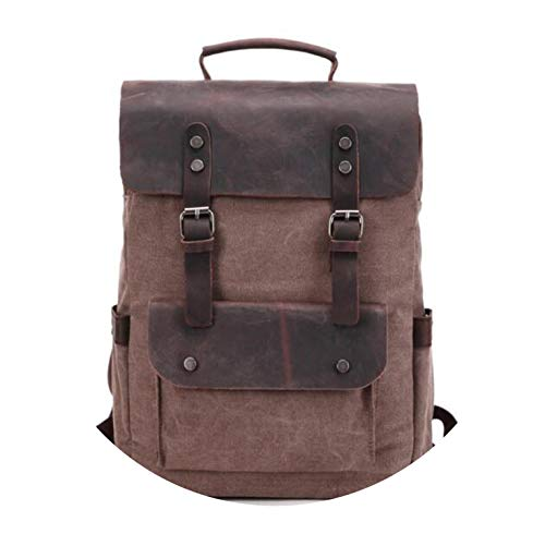 Pursuit-of-self Canvas Leather Backpacks for Men 14