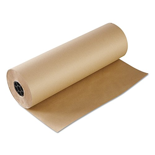Inch Kraft Butcher Food Paper Roll, Wrapping Disposable Steak Meat Paper, 648-Feet Roll (24 Inch Wax)