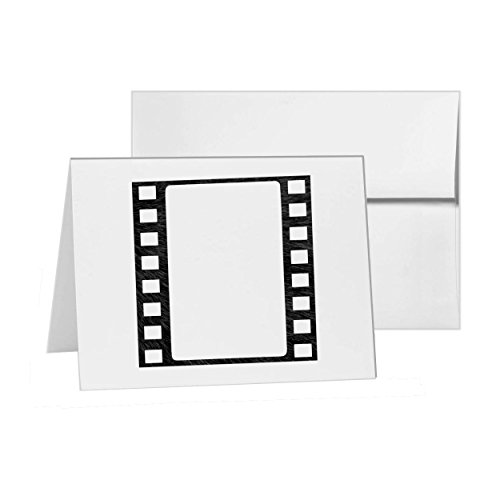 Film Frame Strip Filmstrip Movie, Blank Card Invitation Pack, 15 cards at 4x6, Blank with White Envelopes Style -