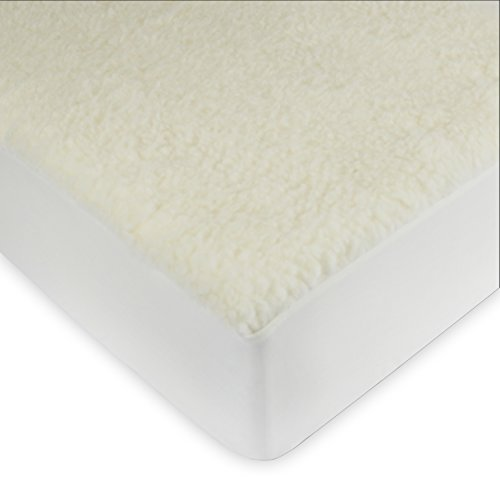 Full Wool Mattress Pad - Century Home C601-142 Signature Collection Woolmark Certified Pure Wool Fleece Mattress Pad, Full