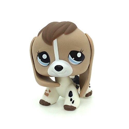 xinxin Littlest pet Shop LPS Tan White Beige Brown Beagle Dog Puppy Blue Eyes #2207 (Littlest Pet Shop Beagle Dog)