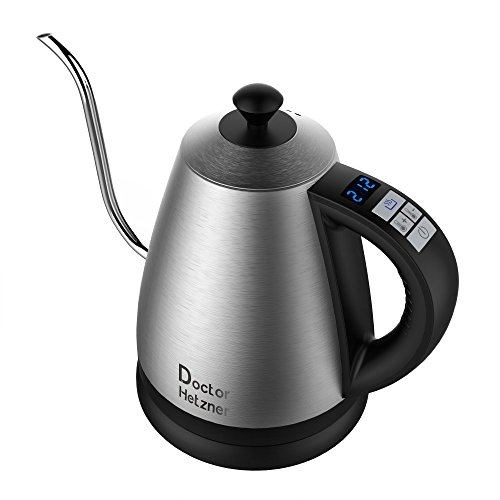 Electric Gooseneck Kettle with Preset Variable Heat Settings for