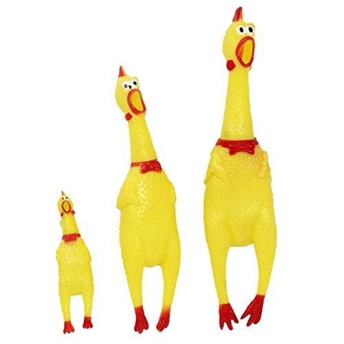 Unlimited-X Dog Toys- 30cm 17cm 41cm Screaming Chicken Squeeze Sound Toy Pets Toy Product Dog Toys shrilling Decompression Tool Funny Gadgets