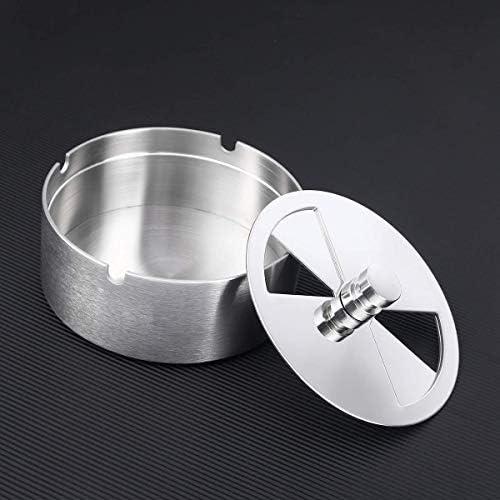 DXX-HR 灰皿、灰皿クリエイティブステンレス鋼ファッション灰皿ターンテーブル灰皿防風灰皿