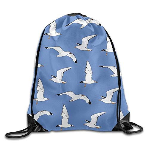 Bag Free Gym Backpack Drawstring Seagulls Gym Lightweight Sport shipping Men Bag Women Sky For And wTq0Xwr