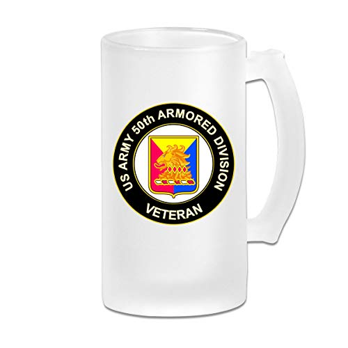 (US Army 50th Armor Unit Crest Veteran Beer Mugs With Handles)