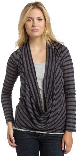 Splendid Women's Venice Stripe Loop Cardigan,Carbon,X-Small