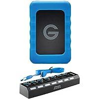 G-Technology 1TB G-DRIVE ev RaW USB 3.0 Hard Drive with Rugged Bumper & 7-Port USB 3.0 Hub