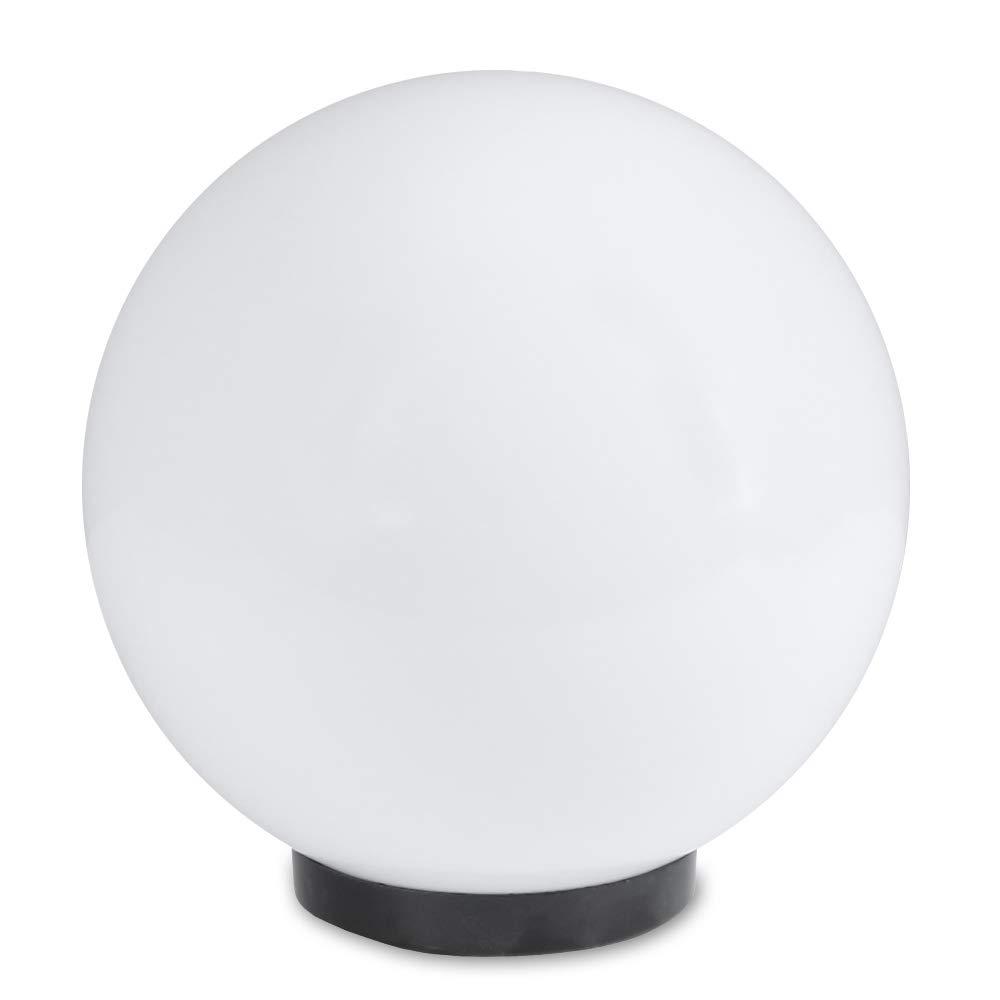 Lámpara redonda Ø 20cm para Montaje directo Lámpara Redonda resistente a la intemperie y resistente a los arañazos Luces para Lámparas de bajo consumo E27 y LED LHG