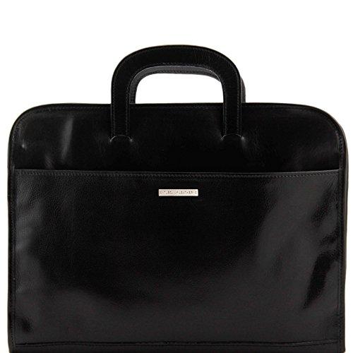 81410224 - TUSCANY LEATHER: SORRENTO - Collegemappe Tasche aus Leder, schwarz