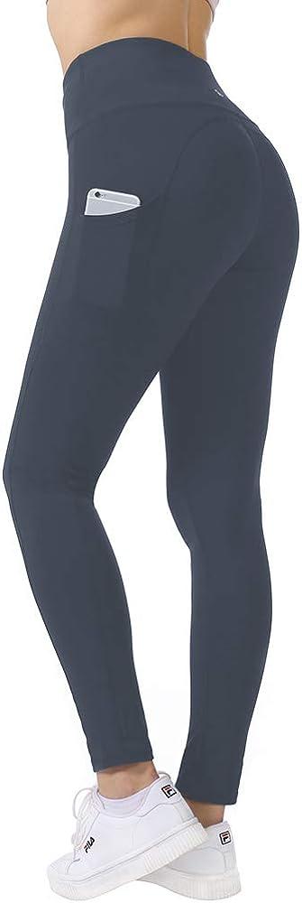 Beelu Damen Leggings Lange Yoga Pants Blinkdicht Hohe Taille Frauen Laufhose Fitnesshose mit Taschen