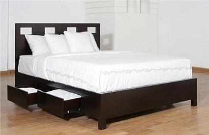 Modus Furniture RV23D5 Riva Platform Storage Bed Queen Espresso & Amazon.com: Modus Furniture RV23D5 Riva Platform Storage Bed Queen ...